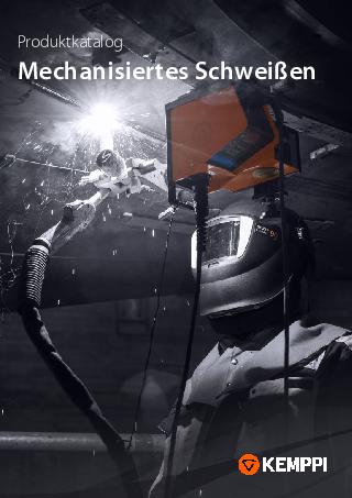 Produktkatalog, Mechanisiertes Schweißen - DE