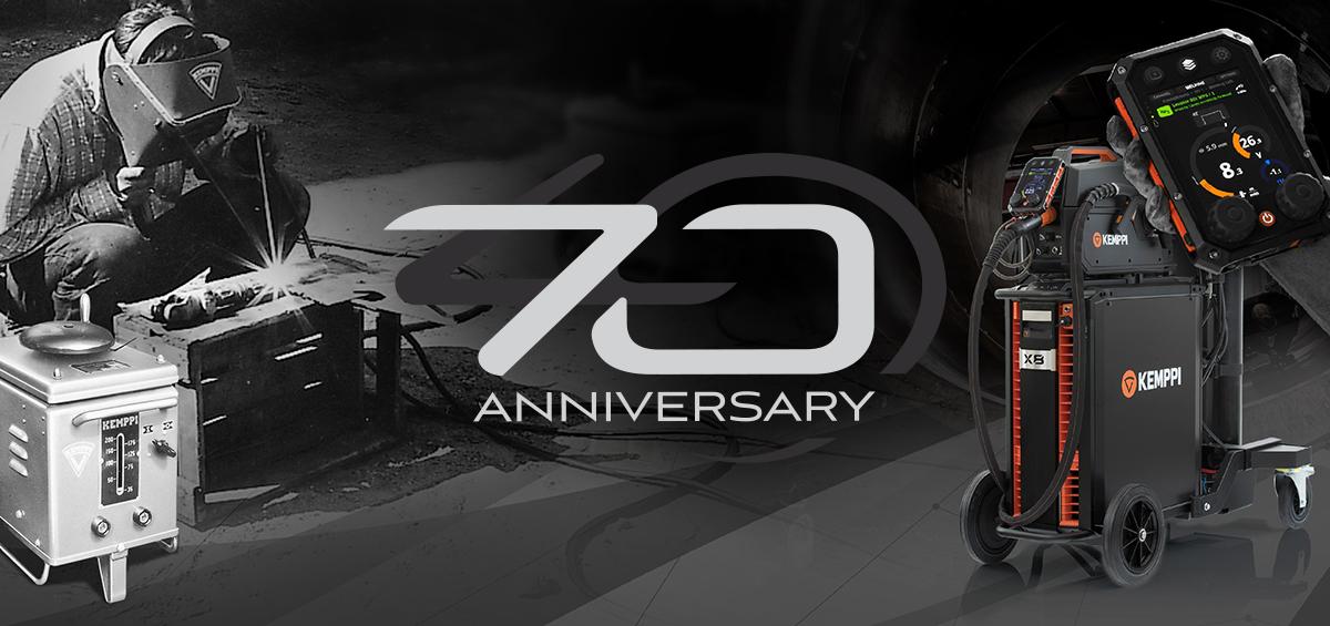 Kemppi firar 70 år av innovationer inom svetsteknik