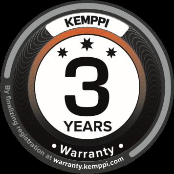 Гарантия Kemppi теперь действует до трех лет!